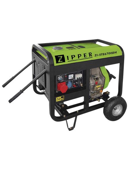 ZIPPER Stromerzeuger »ZI-STE6700DH«, 5,9 kW, Diesel, Tankvolumen: 12,5 l