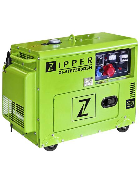 ZIPPER Stromerzeuger »ZI-STE7500DSH«, 5,9 kW, Diesel, Tankvolumen: 14,5 l