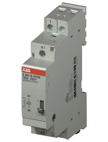 ABB Stromstoßschalter, 230 V, 16 A, Schließer REG, Glühlampenleistung 2000 W, Hutschienenmontage, Grau