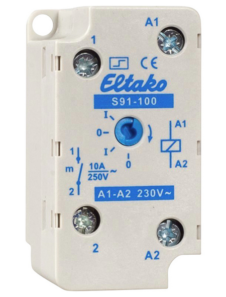 Eltako Stromstoßschalter, 230 V, Schließer, Glühlampenleistung 2000 W, Grau