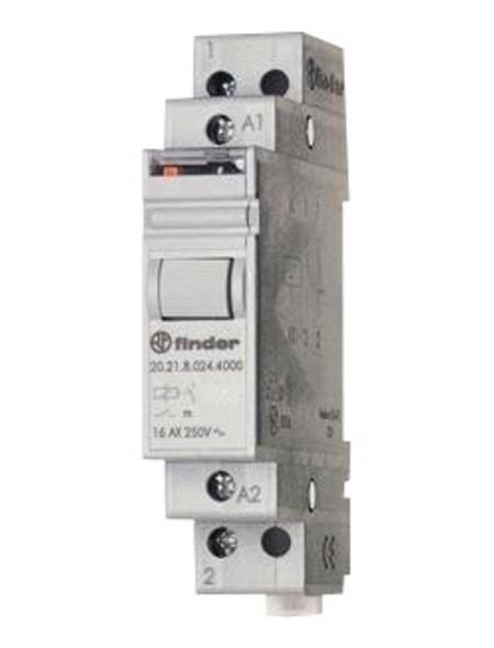 FINDER ® Stromstoßschalter, 230 V, Schließer, Glühlampenleistung 2000 W, Hutschienenmontage, Grau