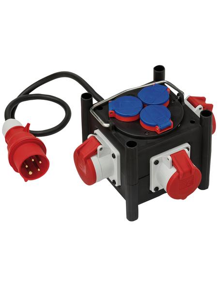 Brennenstuhl® Stromverteiler »BSV 3 LS E/16 2 IP44«, 6-fach, Kabellänge: 1 m
