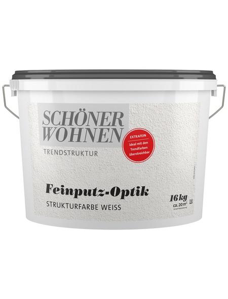 SCHÖNER WOHNEN FARBE Strukturfarbe »Trendstruktur« in Putz-Optik, weiß