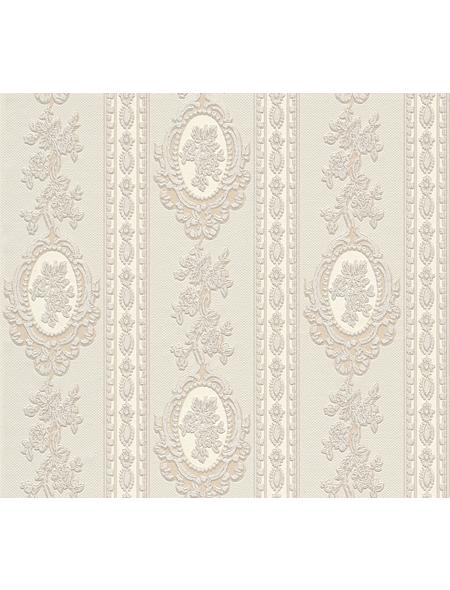 Strukturprofiltapete »Royal III«, creme/beige, strukturiert