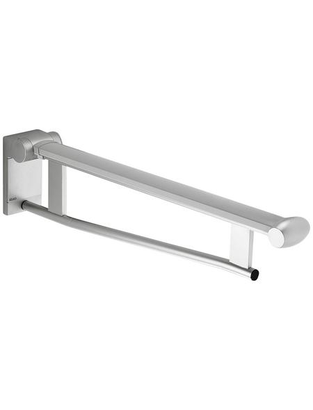KEUCO Stützklappgriff, KEUCO Plan Care , Silber | Schwarzgrau, 650 mm