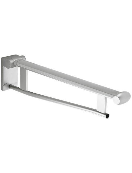 KEUCO Stützklappgriff, KEUCO Plan Care, Silber   Schwarzgrau, 650 mm