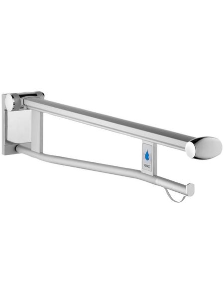 KEUCO Stützklappgriff, KEUCO Plan Care, Silber | Schwarzgrau, 850 mm