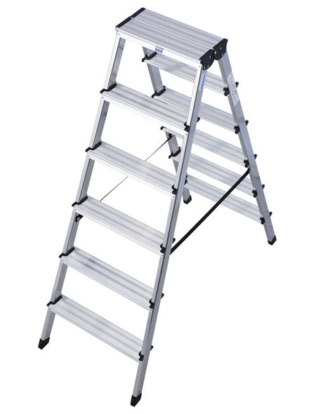 KRAUSE Stufen-Doppelleiter »MONTO«, Anzahl Sprossen: 12, Aluminium
