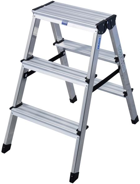 KRAUSE Stufen-Doppelleiter »MONTO Dopplo«, 6 Sprossen, Aluminium
