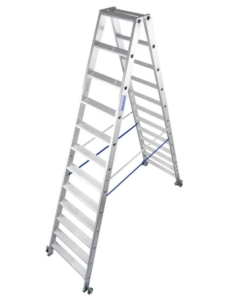 KRAUSE Stufen-Doppelleiter »STABILO«, 24 Sprossen, Aluminium