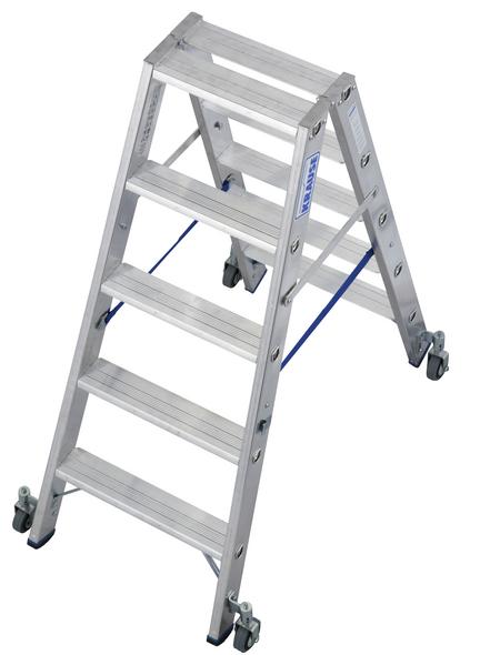 KRAUSE Stufen-Doppelleiter »STABILO«, Anzahl Sprossen: 10, Aluminium