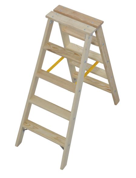 KRAUSE Stufen-Doppelleiter »STABILO«, Anzahl Sprossen: 10, Holz