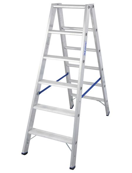 KRAUSE Stufen-Doppelleiter »STABILO«, Anzahl Sprossen: 12, Aluminium
