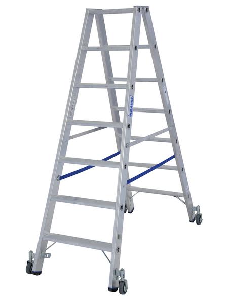 KRAUSE Stufen-Doppelleiter »STABILO«, Anzahl Sprossen: 14, Aluminium