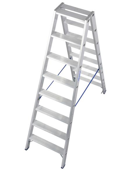 KRAUSE Stufen-Doppelleiter »STABILO«, Anzahl Sprossen: 16, Aluminium