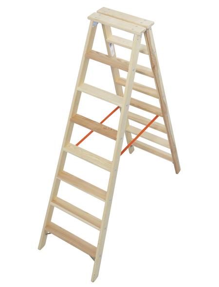 KRAUSE Stufen-Doppelleiter »STABILO«, Anzahl Sprossen: 16, Holz