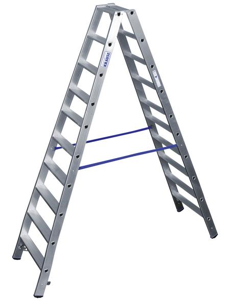 KRAUSE Stufen-Doppelleiter »STABILO«, Anzahl Sprossen: 20, Aluminium