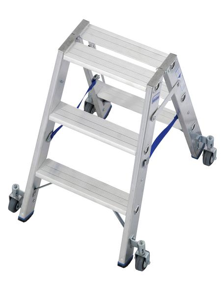 KRAUSE Stufen-Doppelleiter »STABILO«, Anzahl Sprossen: 6, Aluminium