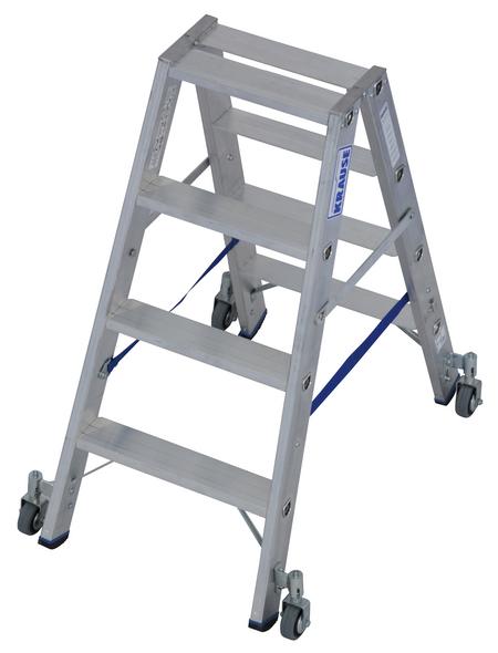KRAUSE Stufen-Doppelleiter »STABILO«, Anzahl Sprossen: 8, Aluminium