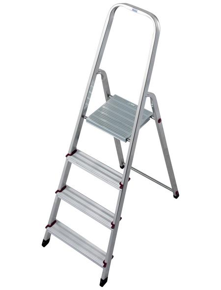 KRAUSE Stufen-Stehleiter »CORDA«, Anzahl Sprossen: 4, Aluminium