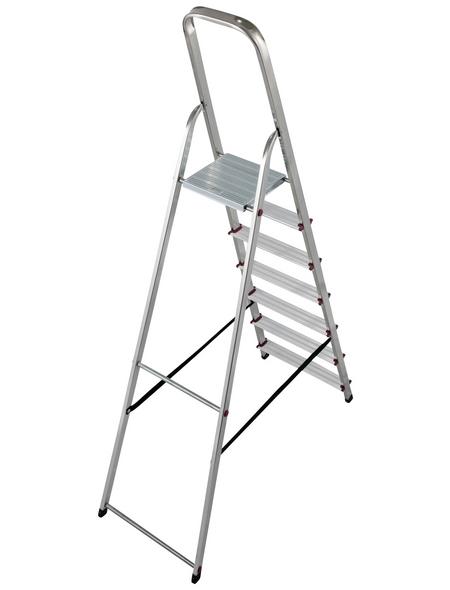KRAUSE Stufen-Stehleiter »CORDA«, Anzahl Sprossen: 7, Aluminium