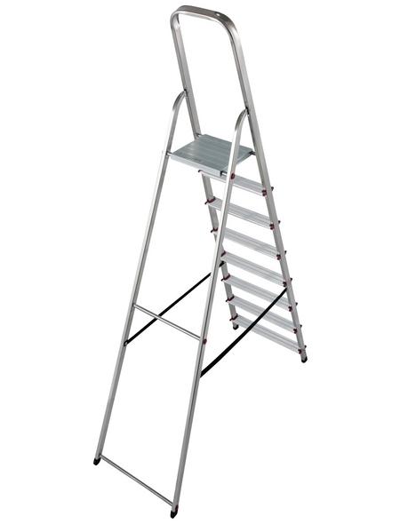 KRAUSE Stufen-Stehleiter »CORDA«, Anzahl Sprossen 8