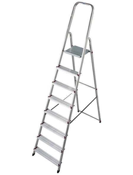 KRAUSE Stufen-Stehleiter »CORDA«, Anzahl Sprossen: 8, Aluminium