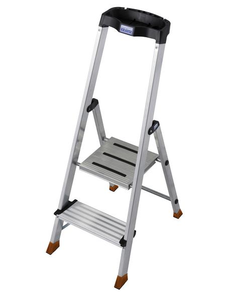 KRAUSE Stufen-Stehleiter »MONTO«, Anzahl Sprossen: 2, Aluminium