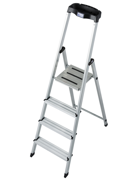 KRAUSE Stufen-Stehleiter »MONTO«, Anzahl Sprossen: 4, Aluminium