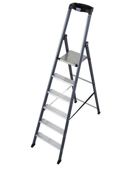 KRAUSE Stufen-Stehleiter »MONTO«, Anzahl Sprossen: 6, Aluminium