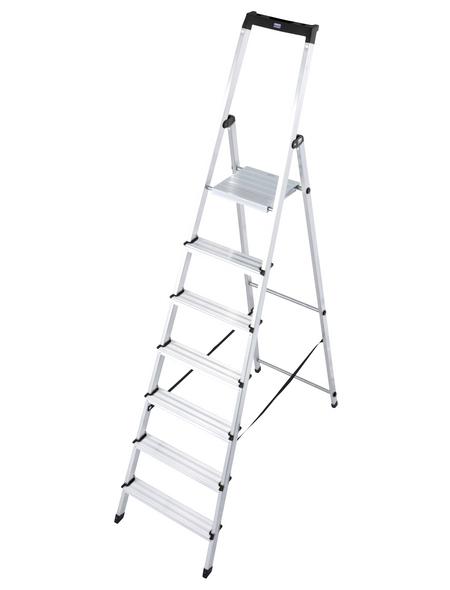 KRAUSE Stufen-Stehleiter »MONTO«, Anzahl Sprossen: 7, Aluminium
