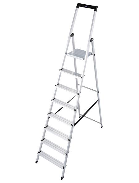 KRAUSE Stufen-Stehleiter »MONTO«, Anzahl Sprossen: 8, Aluminium