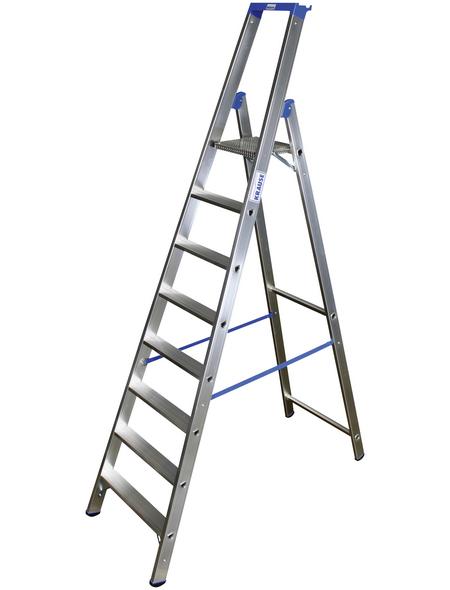 KRAUSE Stufen-Stehleiter »STABILO«, 8 Sprossen, Aluminium
