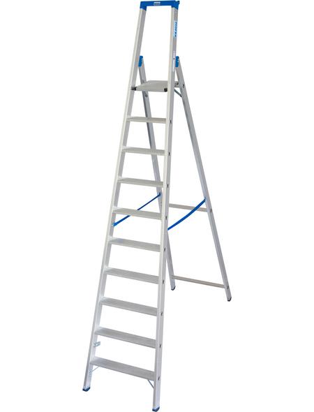 KRAUSE Stufen-Stehleiter »STABILO«, Anzahl Sprossen: 10, Aluminium