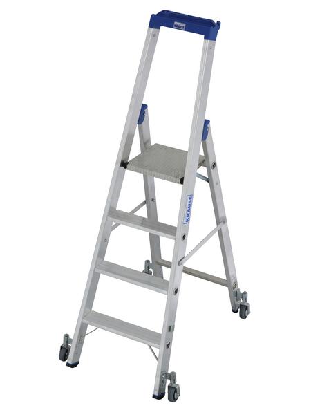 KRAUSE Stufen-Stehleiter »STABILO«, Anzahl Sprossen: 4, Aluminium