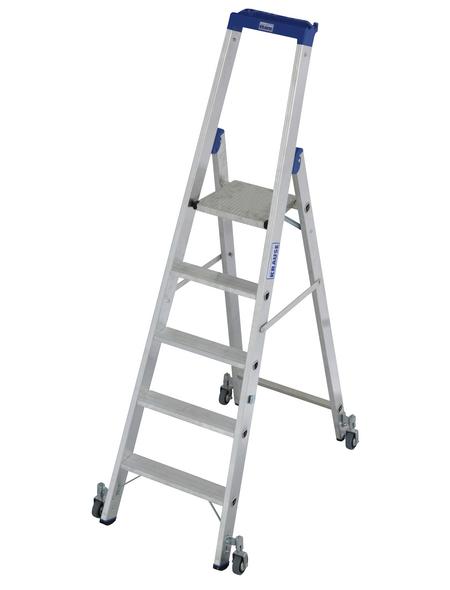 KRAUSE Stufen-Stehleiter »STABILO«, Anzahl Sprossen: 5, Aluminium