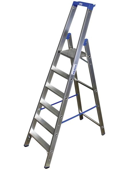 KRAUSE Stufen-Stehleiter »STABILO«, Anzahl Sprossen: 6, Aluminium