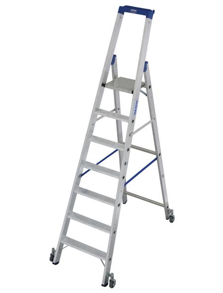 KRAUSE Stufen-Stehleiter »STABILO«, Anzahl Sprossen 7