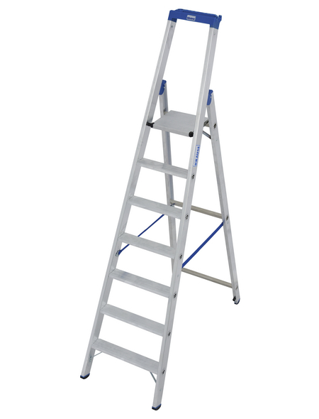 KRAUSE Stufen-Stehleiter »STABILO«, Anzahl Sprossen: 7, Aluminium