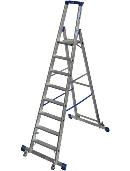 KRAUSE Stufen-Stehleiter »STABILO«, Anzahl Sprossen: 8, Aluminium