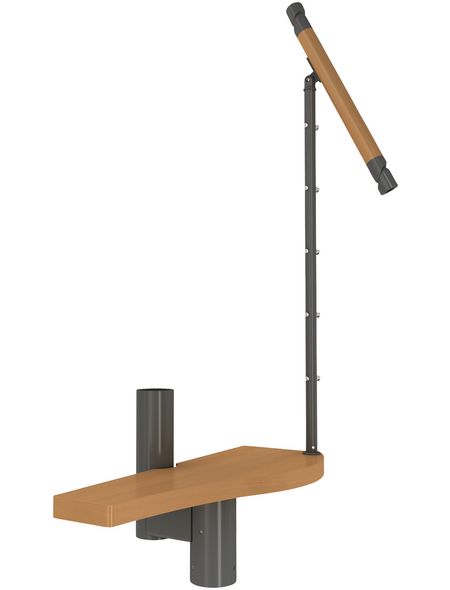 DOLLE Stufenelement »Basel«, Buche, Grau, bis 345 cm Raumhöhe