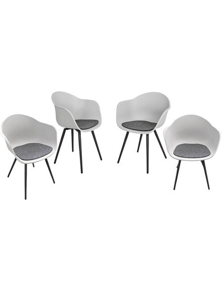 GARDEN PLEASURE Stuhl-Set »Zara«, 4 Sitzplätze