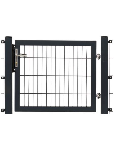 FLORAWORLD Systemtor »Premium«, BxH: 125 x 190 cm, Stahl, anthrazit
