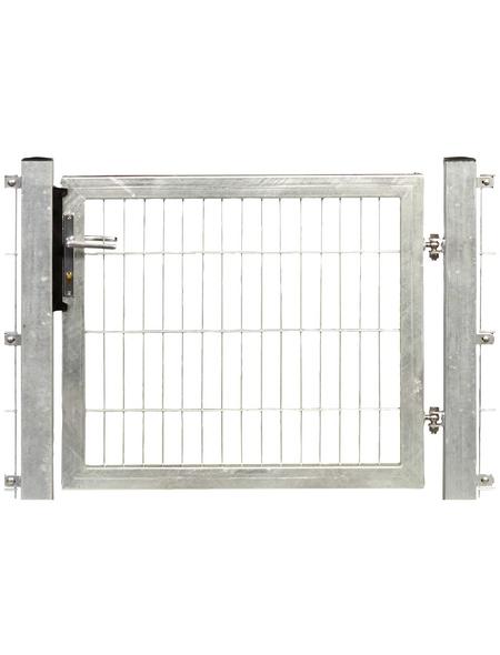 FLORAWORLD Systemtor »Premium«, Stahl, silberfarben