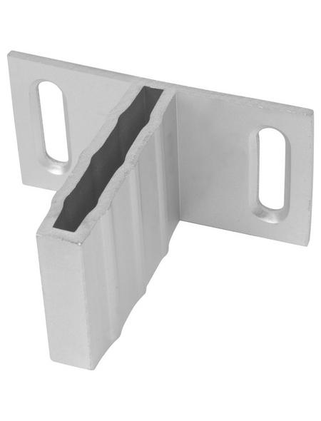T-Beschlagset, Aluminium, 6 Halter, silberfarben