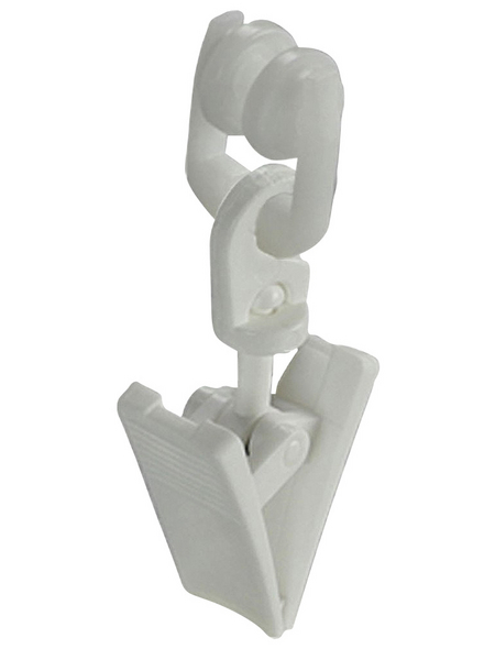 LIEDECO T-Laufrolle, mit Klammer, Weiß, 20 Stück