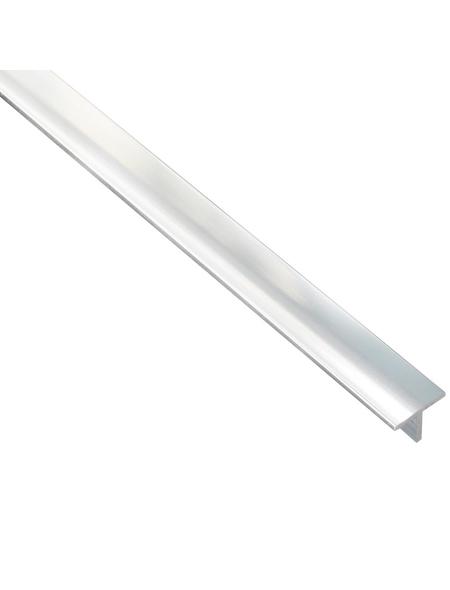 GAH ALBERTS T-Profil Alu chrom 1000 x 15 x 15 x 1,5 mm