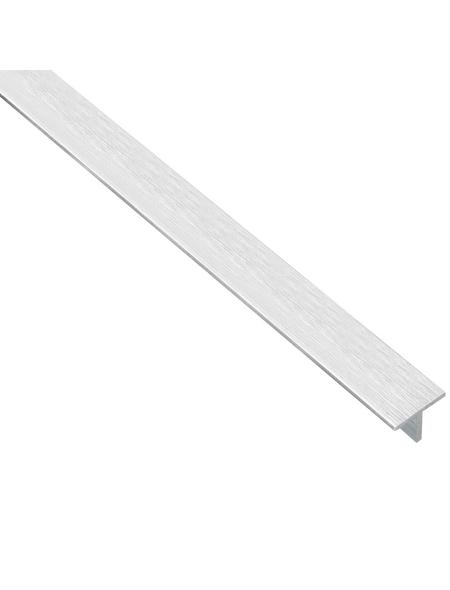 GAH ALBERTS T-Profil Alu edelstahl hell 2000 x 15 x 15 x 1,5 mm