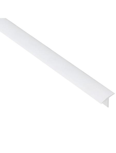 GAH ALBERTS T-Profil Kunststoff weiß 2600 x 25 x 18 x 2 mm