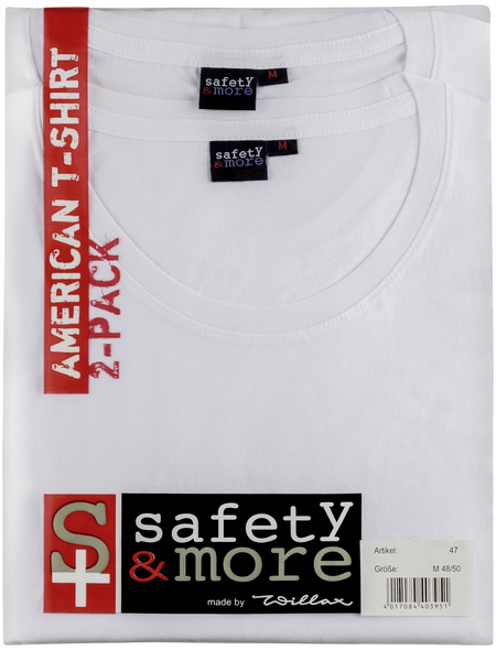 SAFETY AND MORE T-Shirt, Baumwolle, Weiß, M